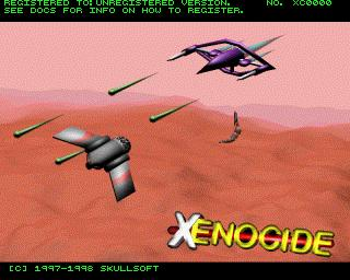 [Xenocide title screen]